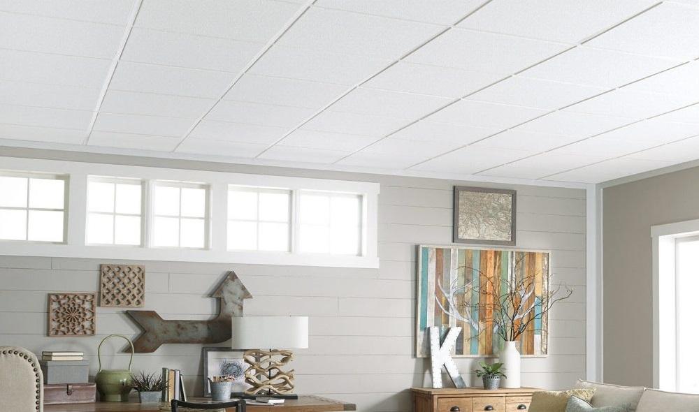 акустический подвесной потолок в студии