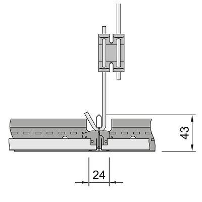 схема установки кассет Армстронг с кромкой board