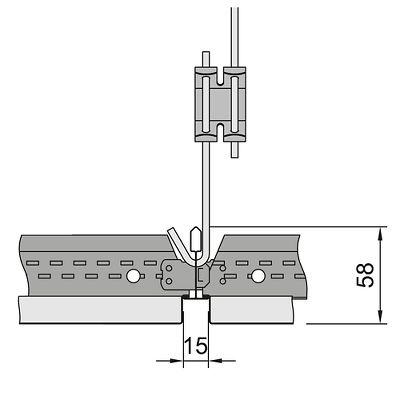 схема установки кассет Армстронг с кромкой microlook 16
