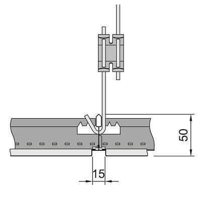схема установки кассет Армстронг с кромкой microlook 8