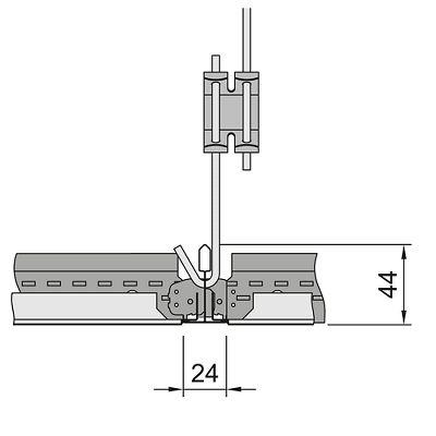 схема установки кассет Армстронг с кромкой tegular 2